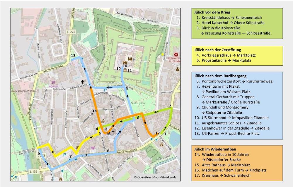 Bild:  Stadtplan zum Rundweg